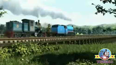 Gordon the express train thundered across railway bridge wooden sleepers boggy fenland tiny track