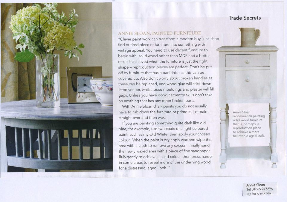 A French Touch English Home Magazine via Annie Sloan
