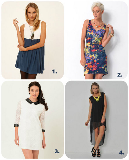 Four Casual Day Dresses
