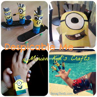 despicable me minion finger puppets crafts ideas