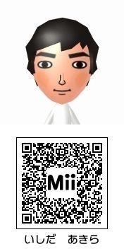 石田明(NON STYLE)のMii QRコード トモダチコレクション新生活