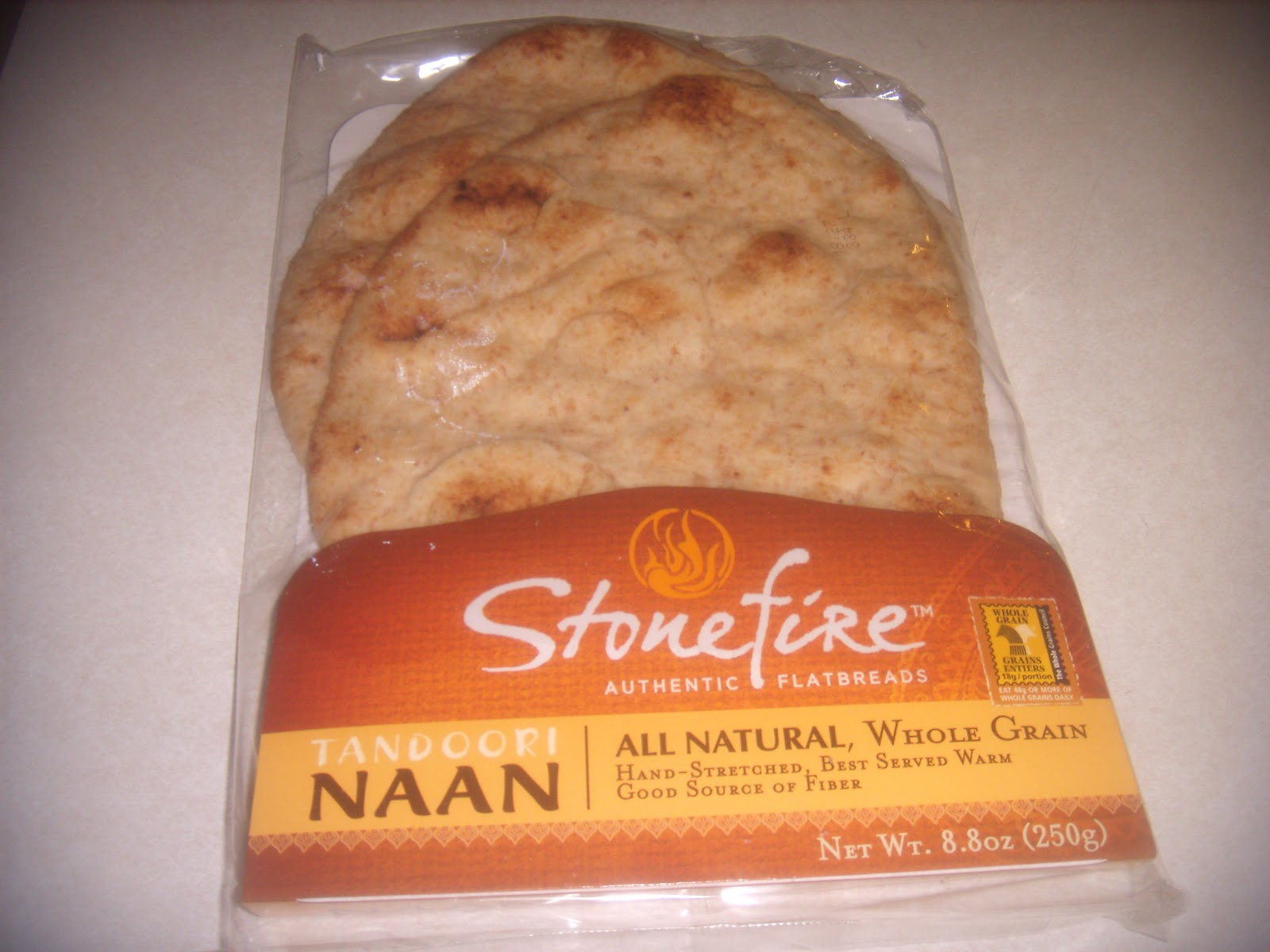 Naan. It had a great garlic flavor. I also loved that it had cilantro ...