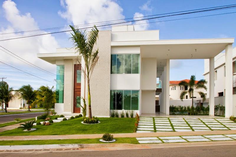 Fachadas casa moderna sobrado modelos linhas retas decor - Fachadas de casa modernas ...