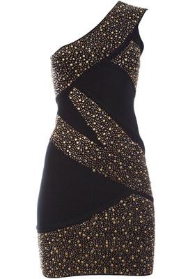 vestido de fiesta con tachas