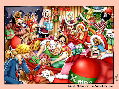 Straw Hats Christmas Party One piece a646
