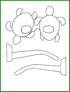 Plantilla de gafas para Carnaval