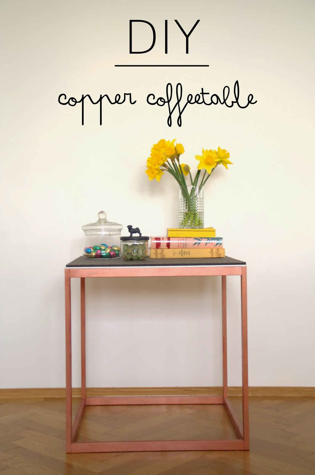 die meisterederin diy copper coffee table ikea hack. Black Bedroom Furniture Sets. Home Design Ideas