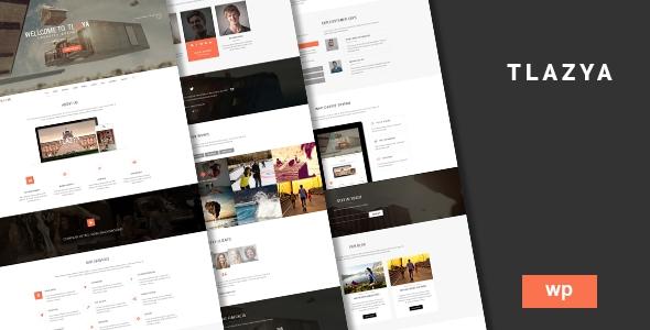 download Tlazya - Creative OnePage Parallax WordPress Theme