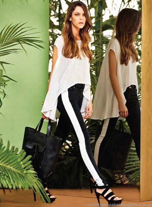 Naima tops, musculosas y blusas de moda primavera verano 2015.