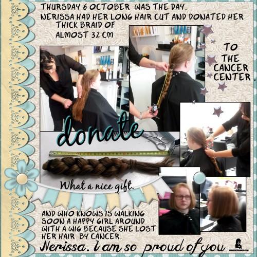 Oct. 6 - 2016 - Donate my hair