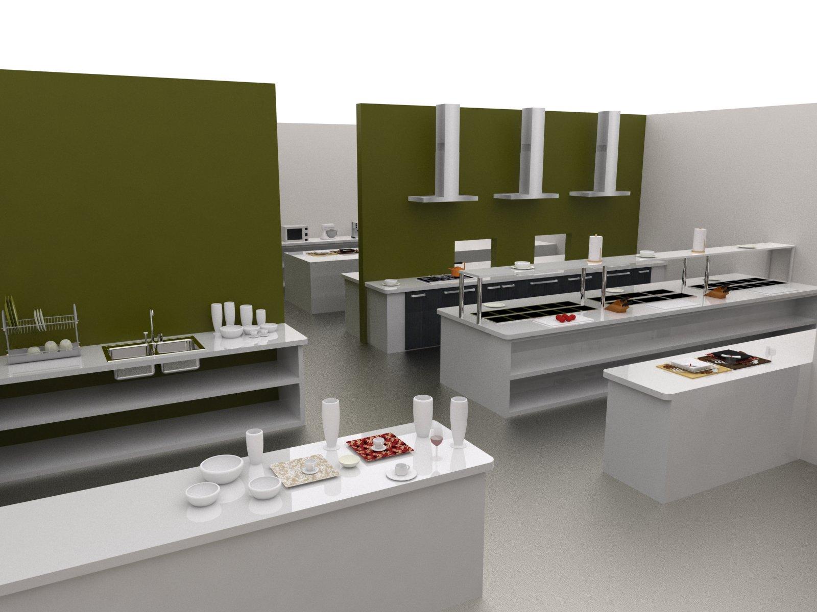 Arquitectura construcci n cocina restaurante hacienda la for Areas de un restaurante