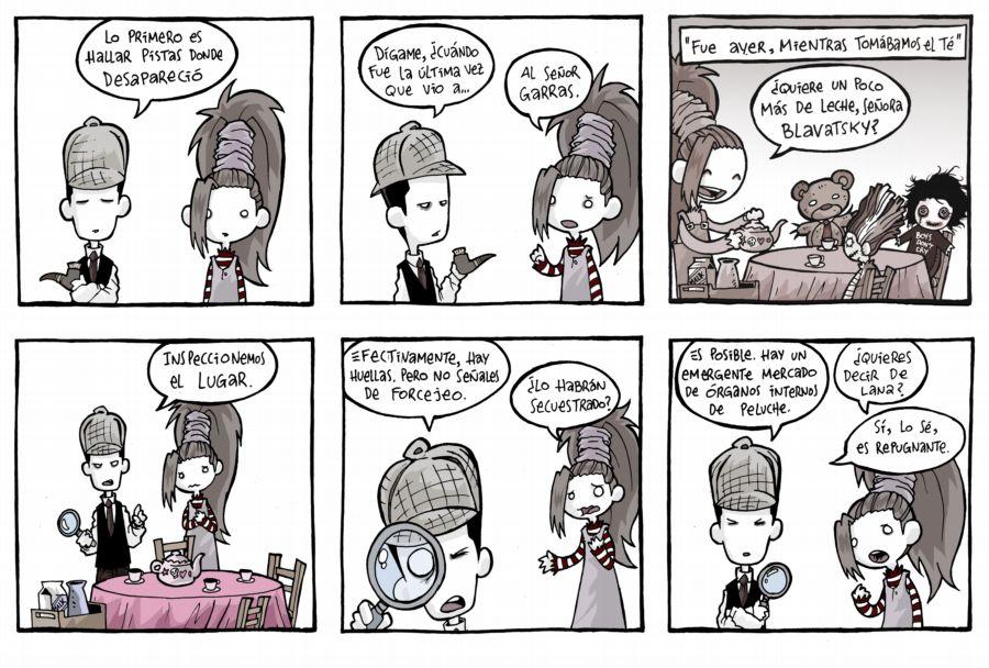 El joven Lovecraft VIII: Tiras comicas