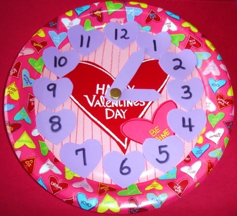 Learning ideas grades k 8 valentine 39 s day paper plate - Manualidades reloj de pared ...