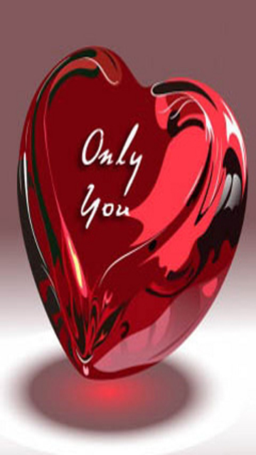 Only You Crystal Heart Love Wallpaper