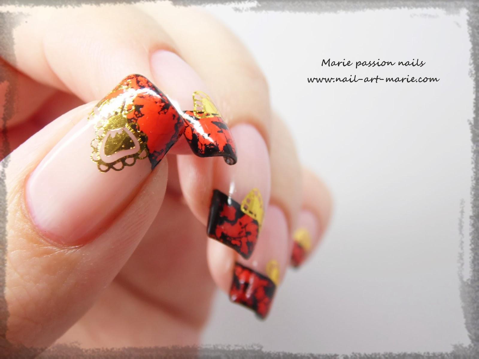 Nail Art avec craquelures de foils matte4