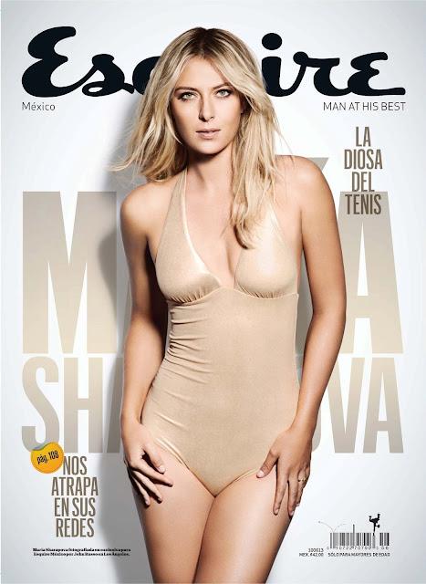 Fotos de la bella tenista rusa Maria Sharapova Revista Esquire Mes de Mayo 2013 (5-2013) Edicion Mexico