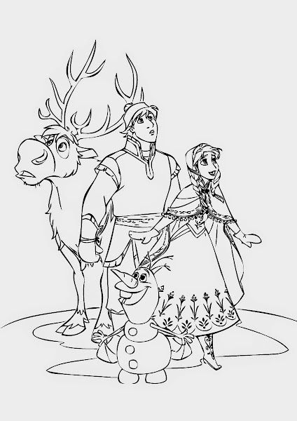 Olaf Frozen Coloring Page Free