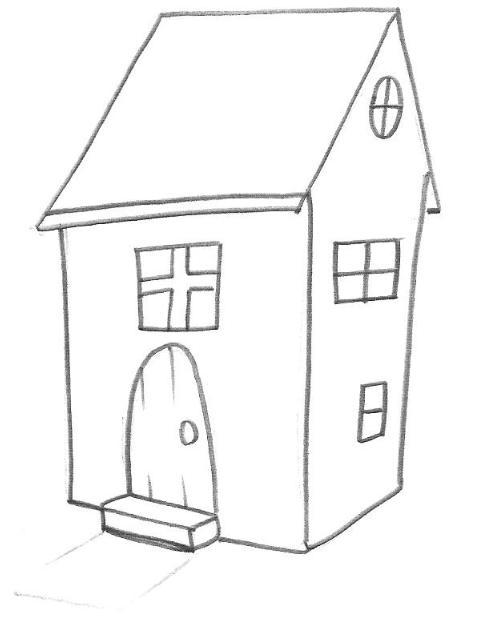 a desenhar Esses Casas Linda colorir