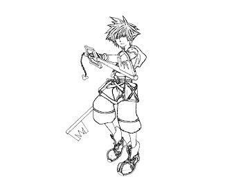 #7 Sora Coloring Page