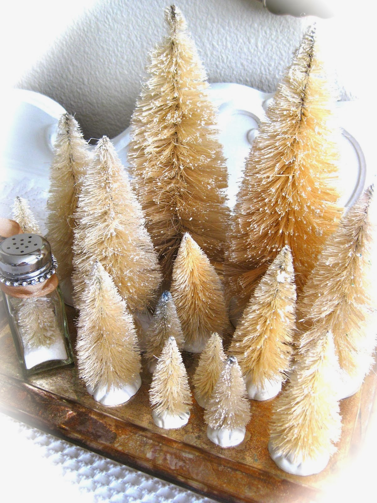 Bleached Christmas Trees Tutorial