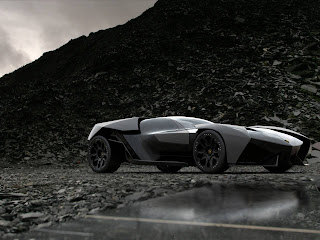 Black Lamborghini Ankonian Sport Car HD Wallpaper