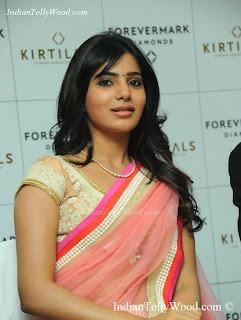 Samantha Hot Spicy Pink Saree Photos Pics images