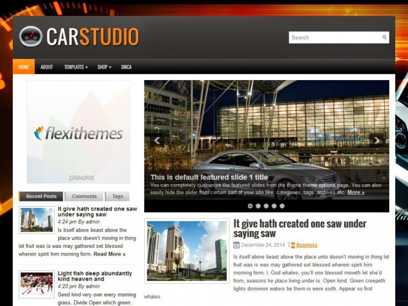 CarStudio - Free Wordpress Theme