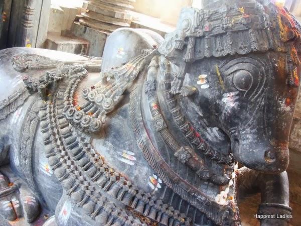 Nandi at Brahmeshwara Temple Kikkeri