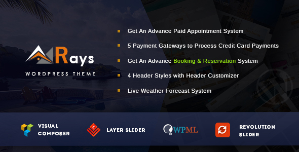 download Rays- Multipurpose Booking & Payment System Theme