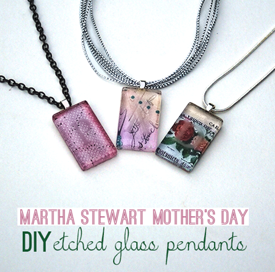 Diy Glass Pendant Necklace Etched Glass Pendant Necklaces