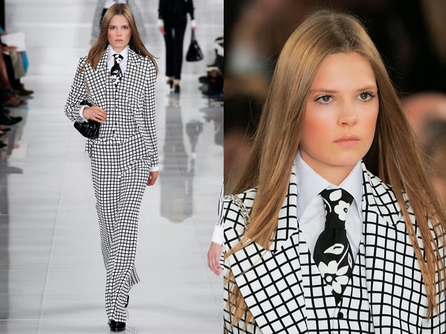 Ralph Lauren Spring 2014 B&W Plaid Suit