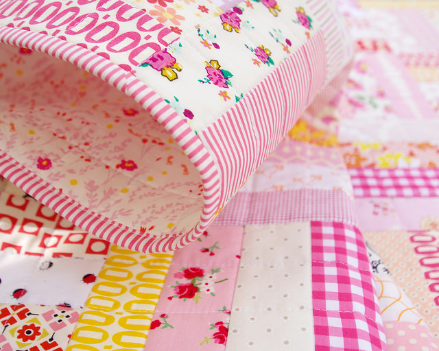 Baby Girl Quilt - Custom Order | Red Pepper Quilts