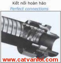 Ống ruột gà thép tráng kẽm CVL có kết nối hoàn hảo