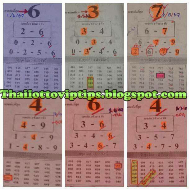 Thai Lotto Hot Touch Tip Paper 01-06-2014