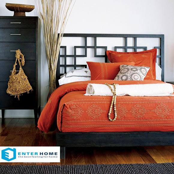 Màu đỏ ấm áp cho phòng ngủ