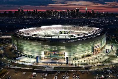majico estadio para la transmisión de Wrestlemania 29, vista aerea del gran estadio de lucha libre WWE