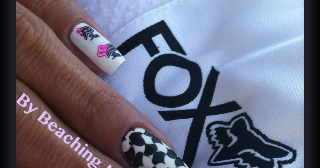 Surfer Girl aka Beaching Nails: Fox Racing Nails