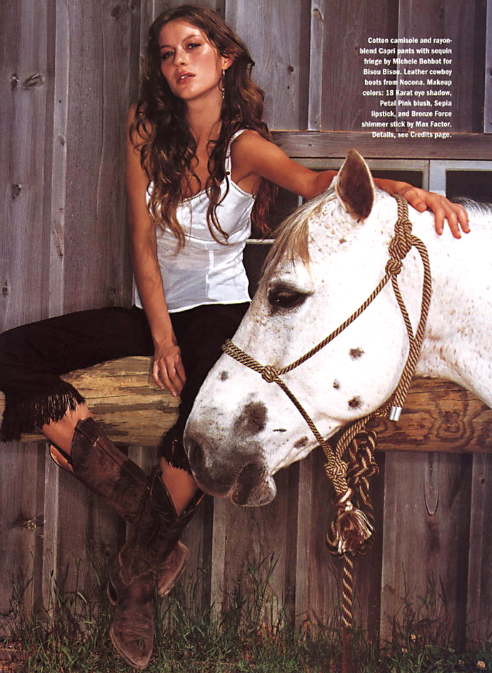 Gisele Bundchen in Allure August 1999 via fashioned by love british fashion blog