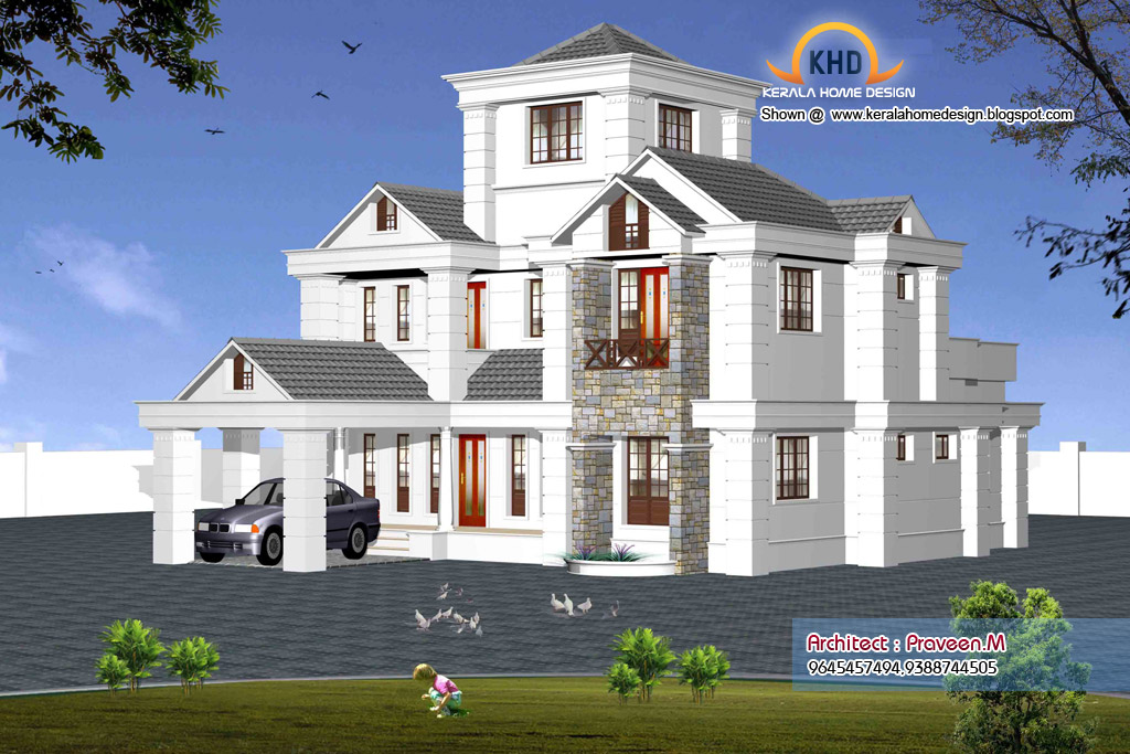 Dian Home Elevation : Indian style sweet home d designs kerala