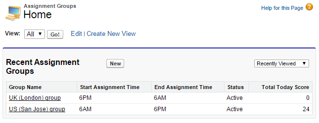 Assignment Groups Console