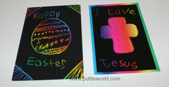 Easter Scratch Art Kids craft