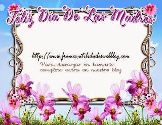 Marco floral para el dia de las madres