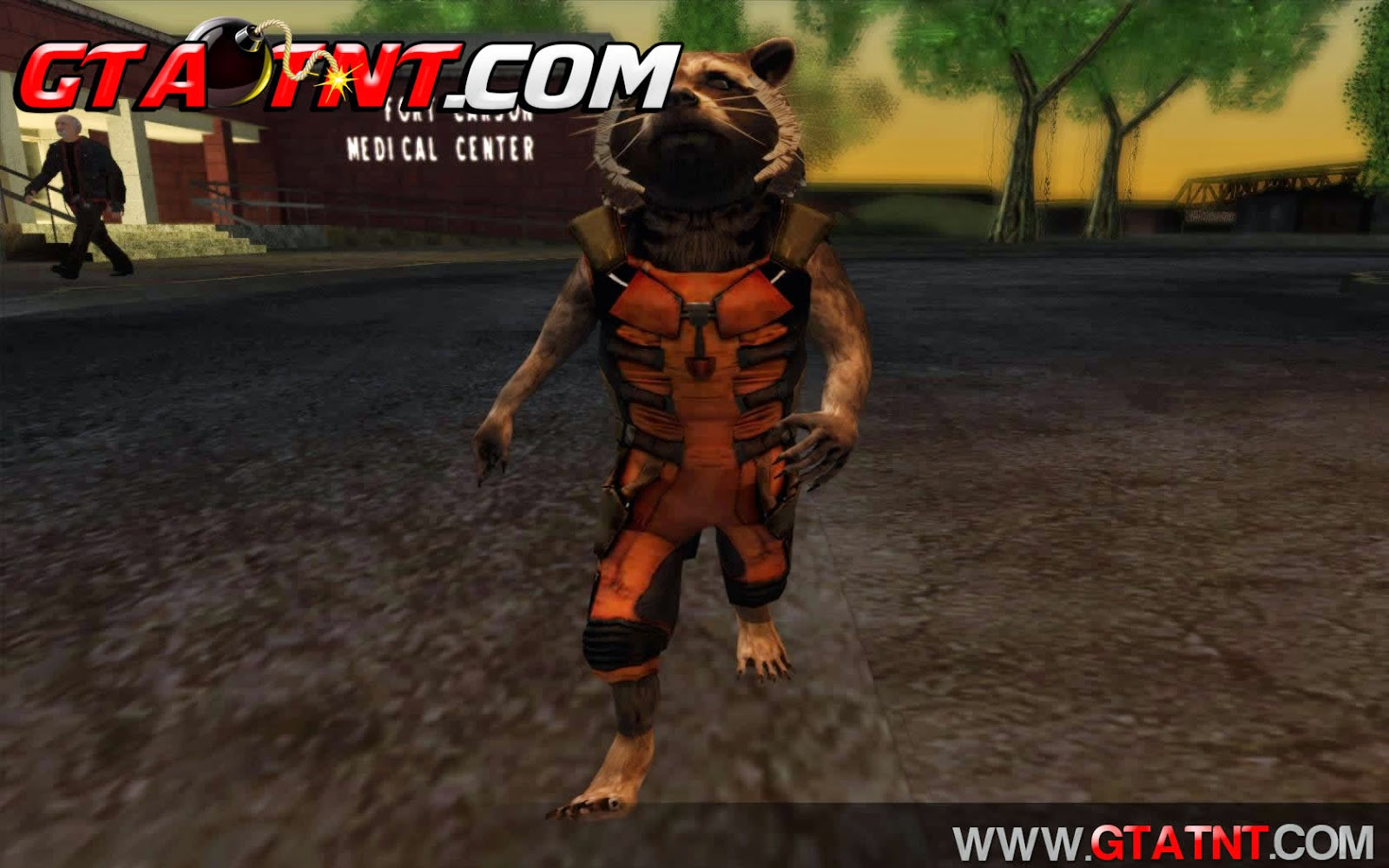Skin Rocket Raccoon Guardiões da Galáxia para GTA San Andreas