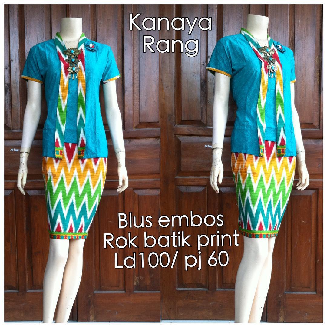3 Baju Dress Baju Batik Terbaru Motif RangRang Kartini
