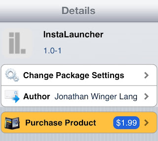instalauncher tweak for iPhone cydia