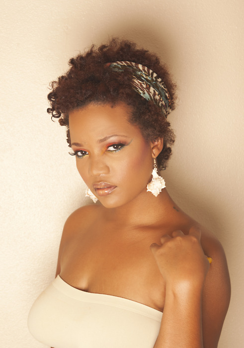 Short Natural Hairstyles with Headbands