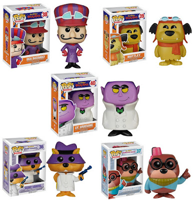 Hanna-Barbera Pop! Animation Vinyl Figures Series 2 by Funko - Dick Dastardly, Muttley, Lil Gruesome, Secret Squirrel & Morocco Mole