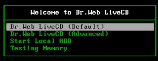 برنامج Dr.Web LiveCD لمكافحة الفيروسات