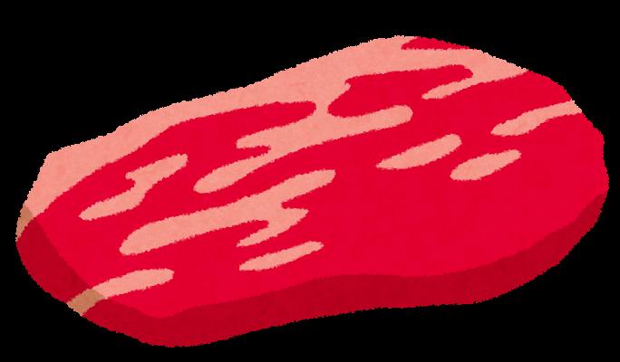 年賀状 2013 年賀状 無料 : 牛肉の切り身のイラスト ...