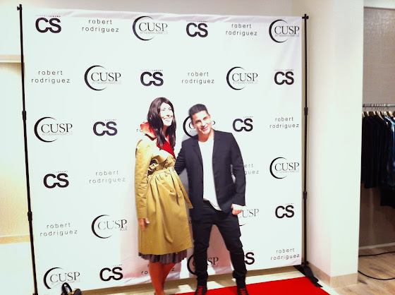 Robert Rodriguez and jessica moazami aka Fashion Junkie at his 10th year anniversary party at CUSP Neiman Marcus